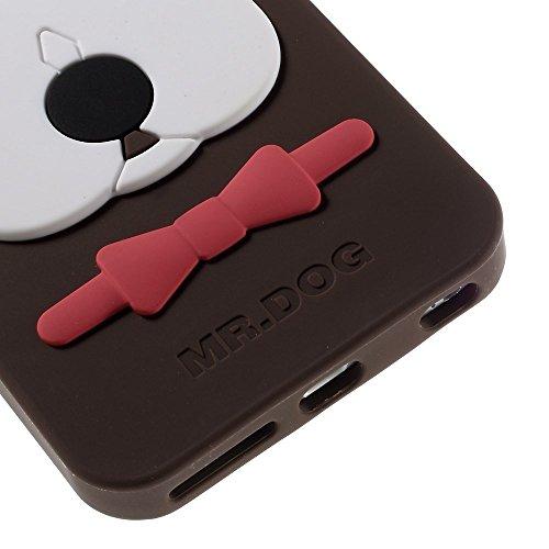 Apple iPhone 6S/6étui Étui de protection 3D chien Marron decui Marron Coque de protection en silicone