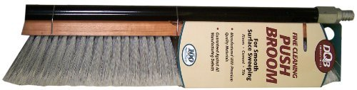 DQB Industries 09974 Flagged Synthetic Tip Floor Sweep Push Broom, 18-Inch by DQB Industries