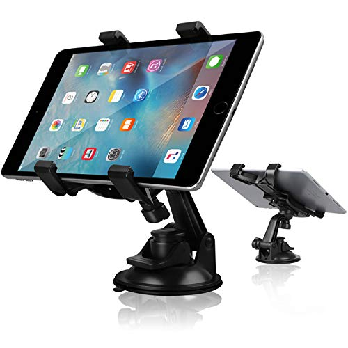 (Car Tablet Holder, Linkstyle Tablet Dash Mount Holder for Car Windshield Dashboard Universal Tablet Car Mount with Suction Cup Compatible with Samsung Galaxy Tab/iPad Mini Air 4 3 (All 7-10