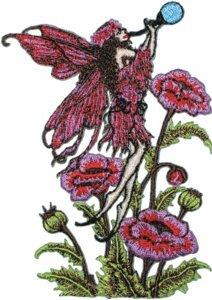 Fairy Applique - Amy Brown Artist Iron on Patch - Blowin Bubbles Sexy Fairy Logo - Applique -