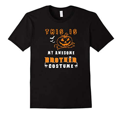 [Mens Funny Halloween T-Shirt - This Is My Awesome Brother Costume Large Black] (Awesome Brother Costumes)