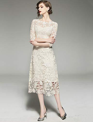 00a413e3d YFLTZ Vestido de Novia Chic Sofisticado de la Calle para Mujer - Color  sólido