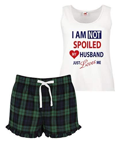 Pijamas perder simplemente Cambio Ruffle Verde Mujeres Mi Me de Short Mujer Scottish a 60 estoy Segundo No marido Limitado ama echado imagen zpw5Znx56