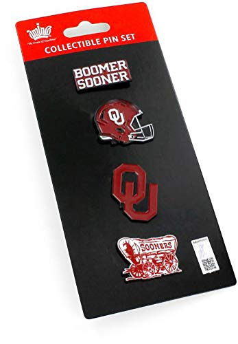 NCAA Oklahoma Sooners Team Pride 4 Pin SetTeam Pride 4 Pin Set, Team Color, 5 x 2-inches ()