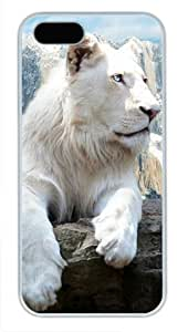 Snow Lion White Sides Hard Shell Case for Iphone5 and Iphone5S by Sakuraelieechyan