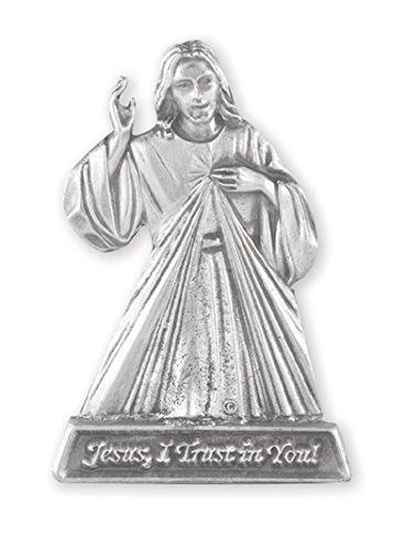 (Hirten Divine Mercy Jesus Auto Pewter Visor Clip)