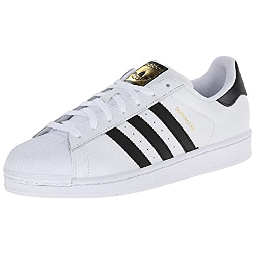 adidas Originals Men's Superstar Casual Sneaker, White/Core Black/White, 9  M US