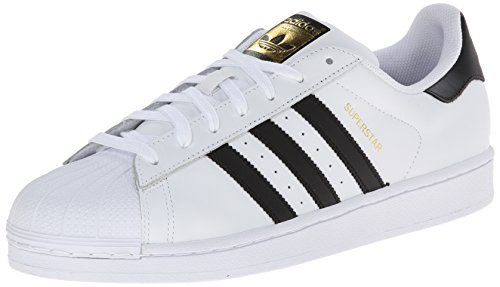 adidas Originals Men's Superstar Foundation Casual Sneaker, White/Core Black/White, 10 M US