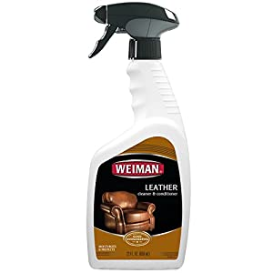 Weiman Leather Cleaner & Conditioner - 22 fl. oz. - Cleans Conditions and Restores Leather Surfaces - UV Protectants Help Prevent Cracking or Fading of Leather Couches, Car Seats, Shoes, Purses