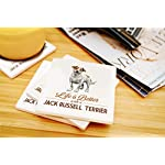 Lantern Press Jack Russell Terrier - Life is Better - White Background (Set of 4 Ceramic Coasters - Cork-Backed, Absorbent) 6