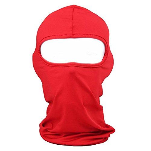 Balaclava Ski Mask,Xiabing Classic Lightweight Lycra Ski Face Mask Bicycle Sports Balaclava Helmet ,Red