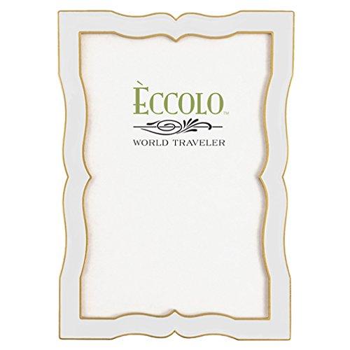 Eccolo Enamel Frame, 4 by 6-Inch, Alhambra White