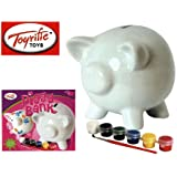 Toyrific Paint Your Own Piggy Bank Pink Toys & Games Art & Craft Make Your Own 5031470037352
