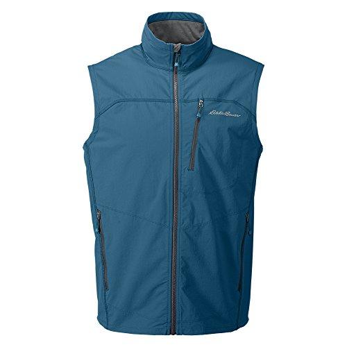 Eddie Bauer Men's Sandstone Soft Shell Vest, Ocean Regular (Eddie Bauer Down Vest)