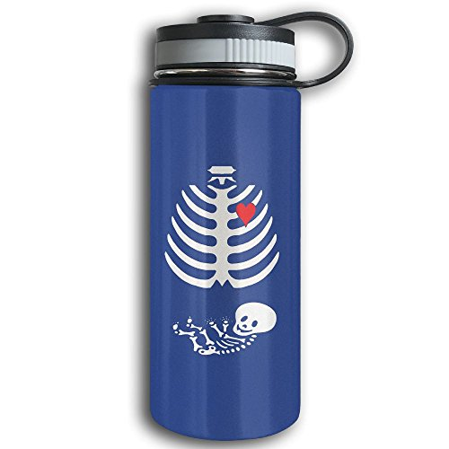 Water Meter Halloween Costume - Stainless Steel Sports Water Bottle, Double Wall Vacuum Insulated Halloween Skeleton Flask Bottle – Leak & Sweat Proof Flask - Cold/Hot Drinks For 12 Hours RoyalBlue