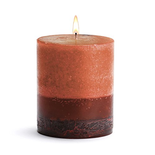Scented Round Pillar Candle (Stone Candles Fresh Furniture Scented Round Pillar Candle, 3-Inch by 3-Inch, Patchouli)