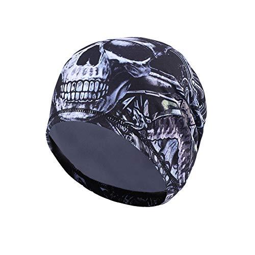 UHEREBUY Helmet Liner - Run Cap Beanie/Fleece Hat/Winter Skull Cap - Cold Weather Motorcycle Chemo Cap