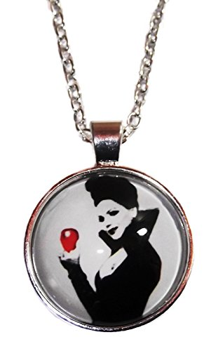 Once Upon a Time EVIL QUEEN with APPLE Glass Dome PENDANT on 20