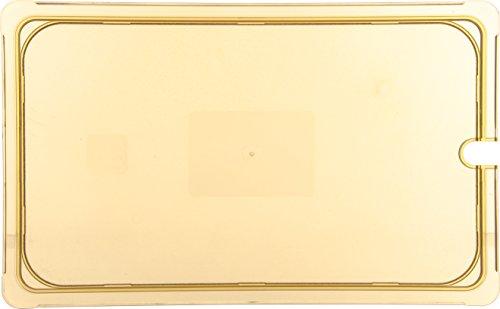 Carlisle 10417U13 High Heat Universal Flat Notched Lid, 20-3/4 x 12-7/8 x 7/16'', Amber, For TopNotch Full Size Food Pans (Case of 6) by Carlisle (Image #2)