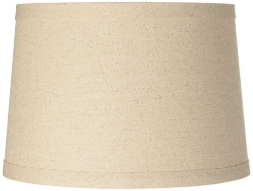Shade Brentwood Collection - Burlap Drum Lamp Shade 14x16x11 (Spider)