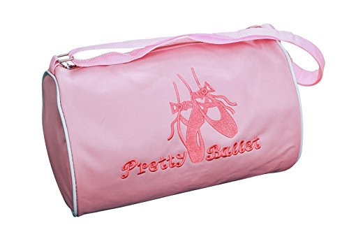 Dance ballet Duffle Bag for little girls, Point shoe embroidery (ver.1)