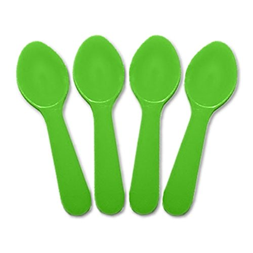 Solid Color Plastic Taster Spoons - 3,000 / Case (Green)