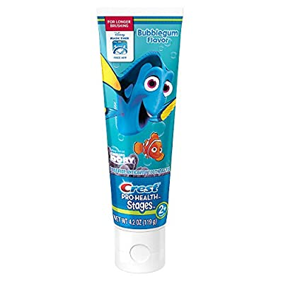 Disney Pixar Finding Dory Crest Pro-Health Stages Fluoride Anticavity Toothpaste - 4.2 Ounce