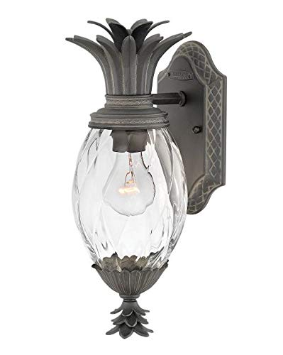 Hinkley 2126MB Plantation Outdoor Wall Sconce, 1-Light 60 Watts, Museum Black