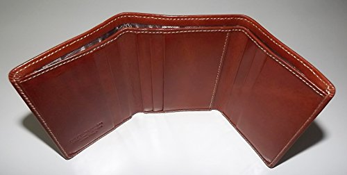 Italia Tuscan Trifold Giudi Cognac Card Leather Credit Wallet Men's FRwwqB1