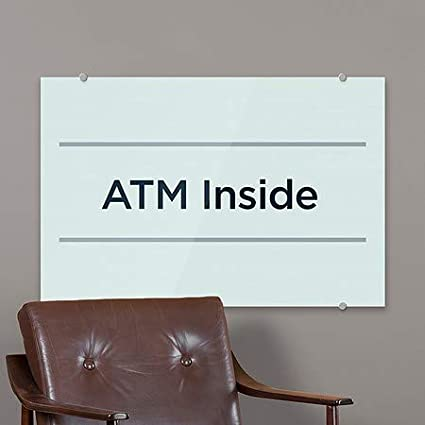 ATM Inside 5-Pack 18x12 Basic Teal Premium Acrylic Sign CGSignLab