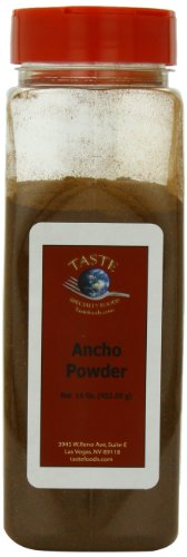 TASTE Specialty Foods Ancho, Powder, 16 Ounce Jars (Pack of 2)