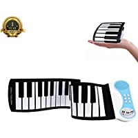 Portable Roll Up Piano Kids Practice Piano Keyboard 37...