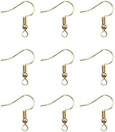 100 x Silver Plated Ear Wire Fish Hook Earring Hooks Bead /& Spring 19mm Findings