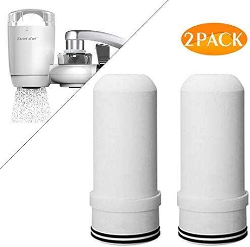 Spardar Purificatore Acqua per Rubinetto da Cucina Adatto a rubinetti Standard 2 Pack Filtro Acqua con Materiale Ultra Assorbente