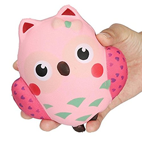 Animal Squishy Pillows : Jumbo Slow Rising Squishy Owl Stress Relief Toy Hand Pillow Toy Kawaii Squishy Charms Flyers ...