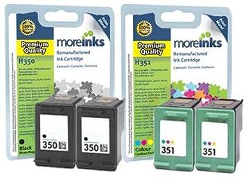 4 cartuchos de tinta para impresora HP Photosmart/351-C5200 negro ...