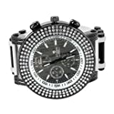 Black White Mens Watch Simulated Diamond Hip Hop Rapper Wear Ice King Jojo Style