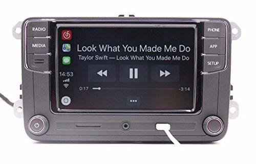 Amzparts RCD330 RCD330G Plus CarPlay App 6.5 MIB Car Radio for VW Tiguan Golf 5 6 Jetta MK5 MK6 Passat Polo Touran 6RD035187B