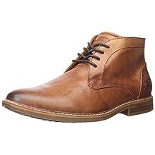Skechers Men's Bregman-CALSEN Street Dress Collection Ankle Boot, Cognac, 13 Medium US