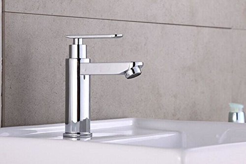 LHbox Basin Mixer Tap Bathroom Sink Faucet The copper basin single cold water taps, wash basins single hole basin mixer, lowered basin Bathroom Faucet