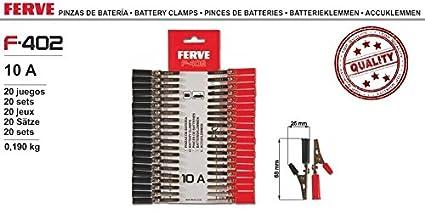 Ferve Pinzas de bateria 10A F402: Amazon.es: Coche y moto