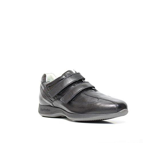 NERO GIARDINI ART. A411525D - 100 chaussures de sport en cuir noir A4 11525 D