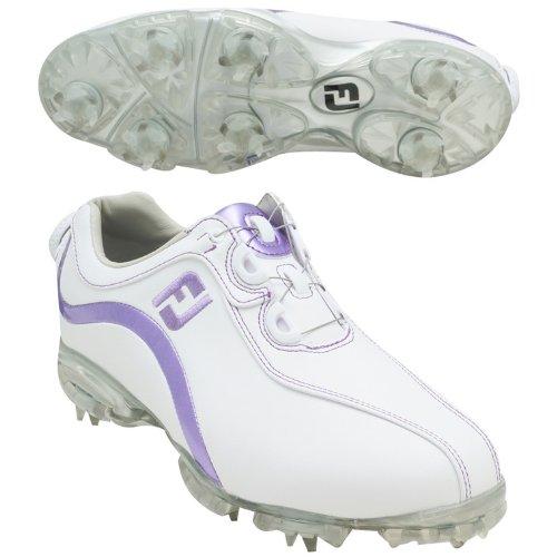 フットジョイ Foot Joy 13 WOリールフィットシューズ レディス 93825 ホワイト/パープル 24cm   B00CI55CTE