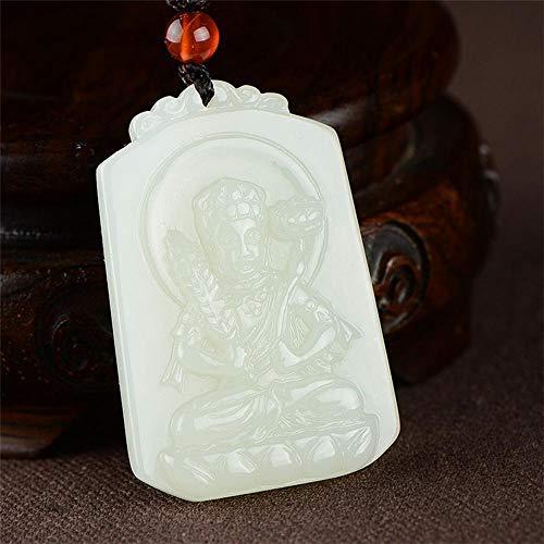 Zhiming 48317mm Natural Jade Pendant Zodiac Tiger New Ben Life Buddha Guardian Goddess of Men and Women and Nephrite Pendant