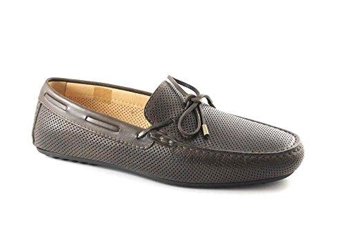 BLACK GARDENS 5091 t.moro Loafer Herrenschuhe elegante Rohr Löcher Marrone