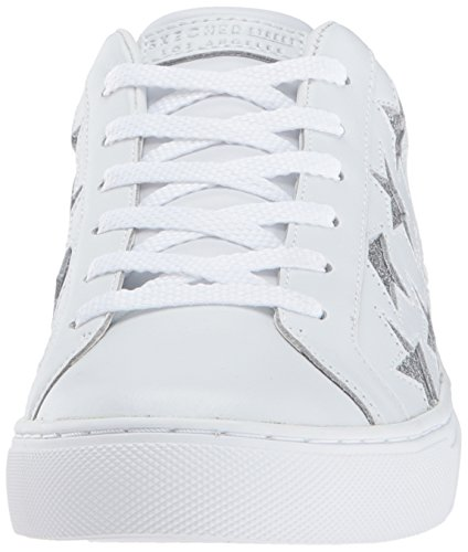 Damen Silver Black Skechers Leather Ausbilder Street Patent M White Side White PvxqCwd