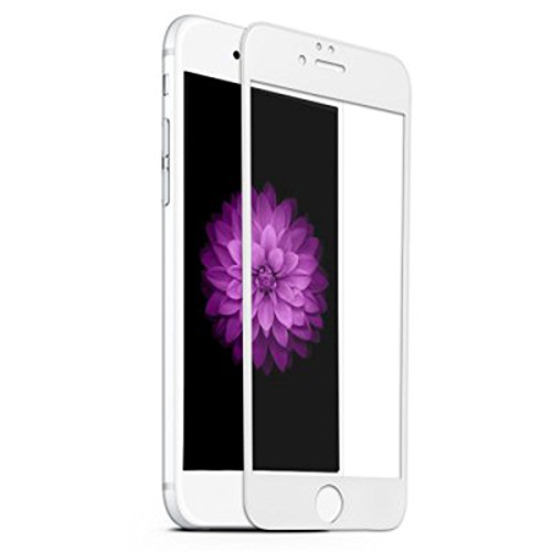 iPhone 6S/6 Screen Protector,ASLING 3D Tempered Glass Screen Protector with Full Coverage Ultra HD Clear Anti-Bubble Scratch Proof Military Grade Screen Cover for iPhone 6S/6S(iPhone 6S/6 White)