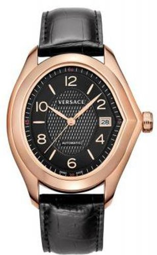 Versace Men's 20A380D009 S009 V-Master Swiss Automatic Rose Gold Plated Black Dial Watch