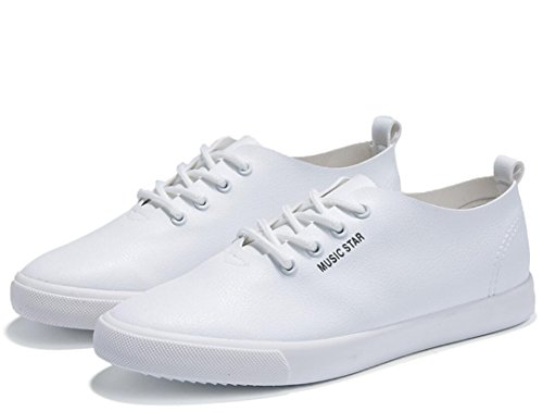 White Gli Movimento Svago Studenti Shopping Bianco Lady Permeability Pu Nero Flat Semplice Shoes Scuola Bottom Nvxie Di npYOqazw