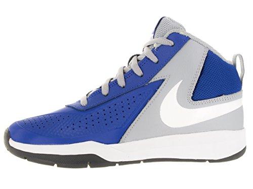 Nike Team Hustle D 7 (Ps), Zapatillas de Baloncesto para Niños Azul / Blanco / Gris / Negro (Game Royal / White-Wlf Grey-Blck)